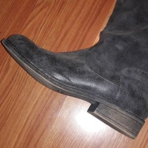 Shoes - Tall dark grey boots